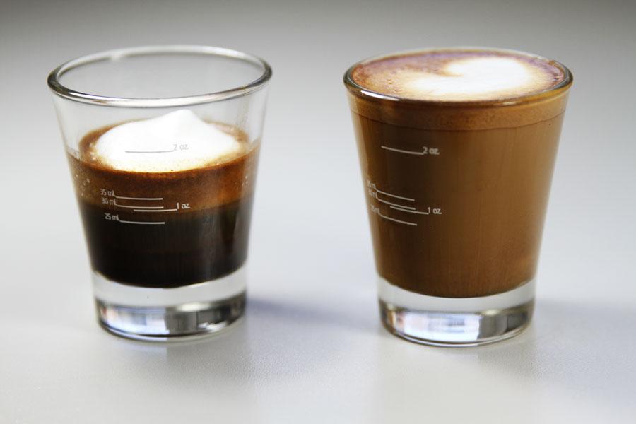 Espresso Macchiato vs Cortado